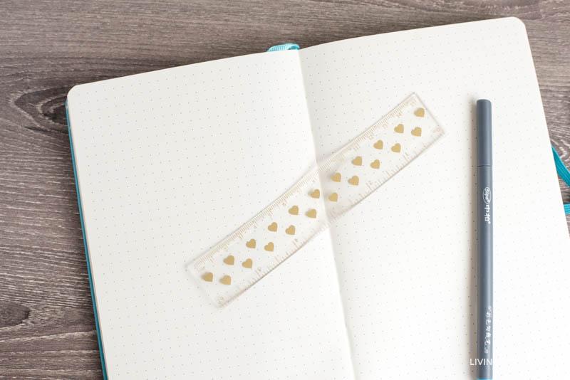 bullet journal marker and ruler