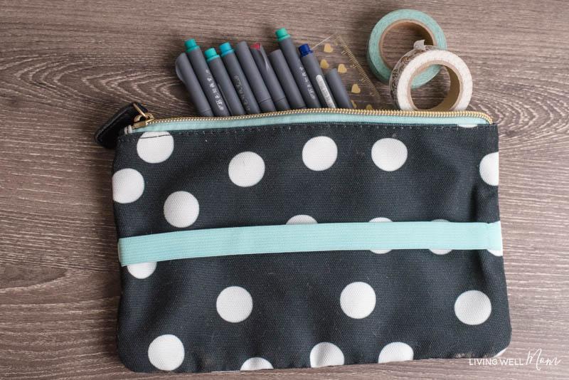 pen pouch for carrying bullet journal supplies