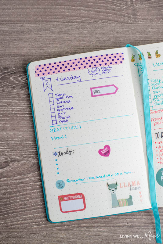 simple bullet journal layout ideas
