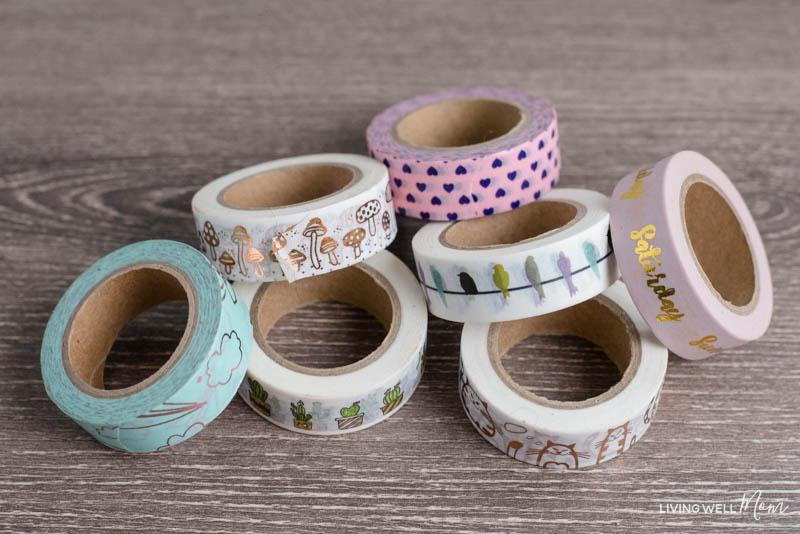 washi tape for bullet journaling