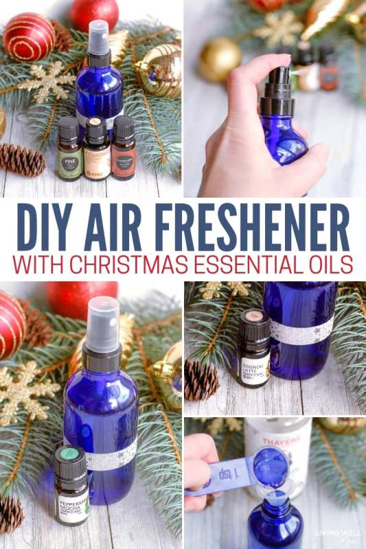 DIY Air Freshener with Christmas Essential Oils Recipe