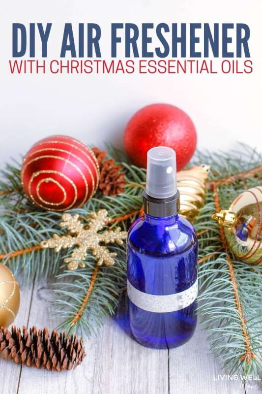 DIY Air Freshener with Christmas Essential Oils