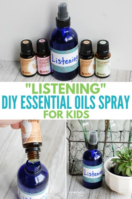 Listening DIY Essential Oil Spray for Kids recipe