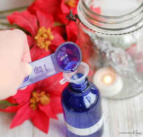 relaxing holiday essential oil room spray