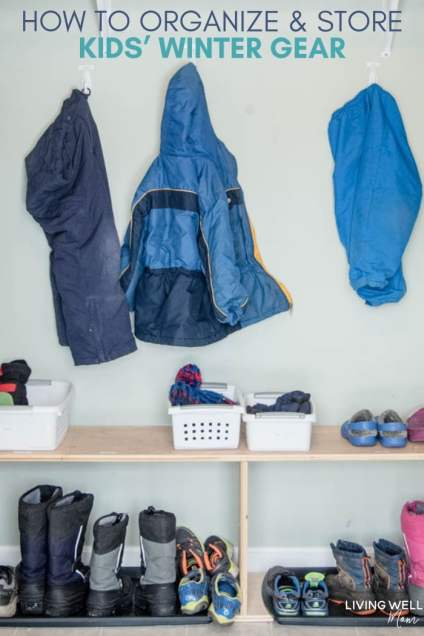 How to Organize & Store Kids' Winter Gear