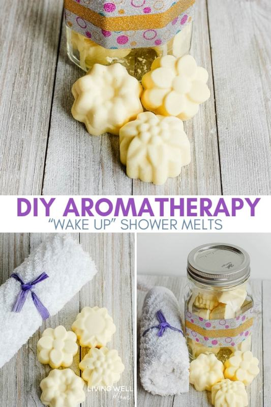 wake up DIY aromatherapy shower steamers