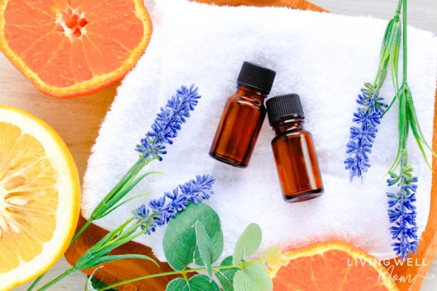 essentials for allergies with citrus fruits and flowers