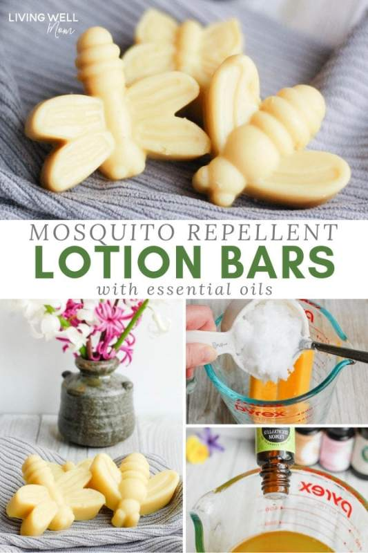 Mosquito Repellent Lotion Bars with Essential Oils