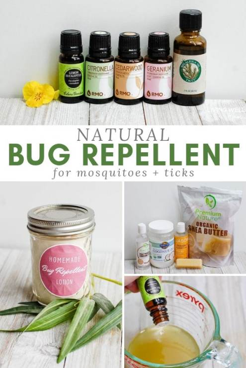 natural bug repellent lotion for mosquitoes and ticks