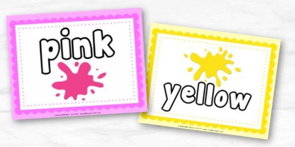 Color Playdough Mat Printables