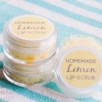 homemade lemon sugar lip scrub