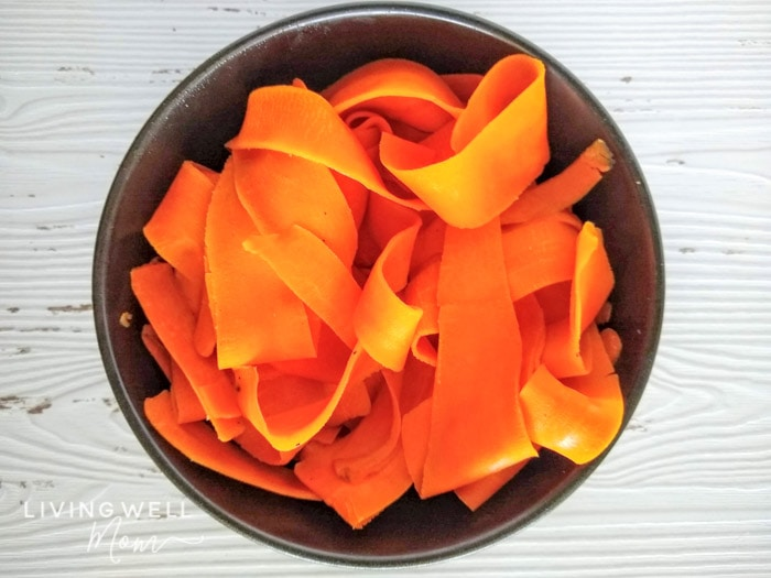 carrot pasta in a bowl