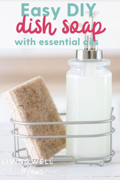 easy diy dish soap with essential oils