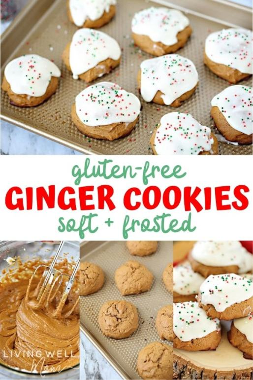 gluten-free soft frosted ginger cookies