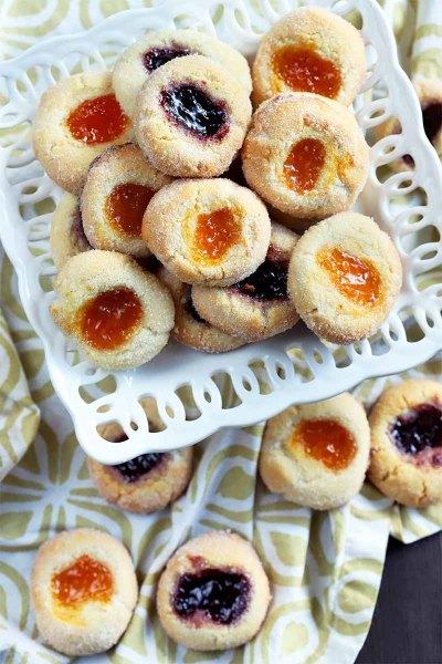 Flourless-Almond-Thumbprint-Holiday-Cookies