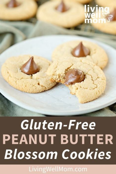 gluten-free peanut butter blossom cookies