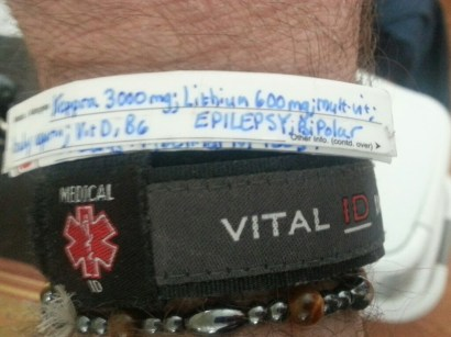 The all important medical ID bracelet