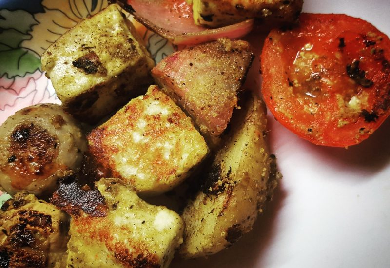 Recipe: Grilled Indian Cheese & Veggie Platter