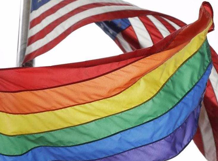 american flag LGBTQ flag