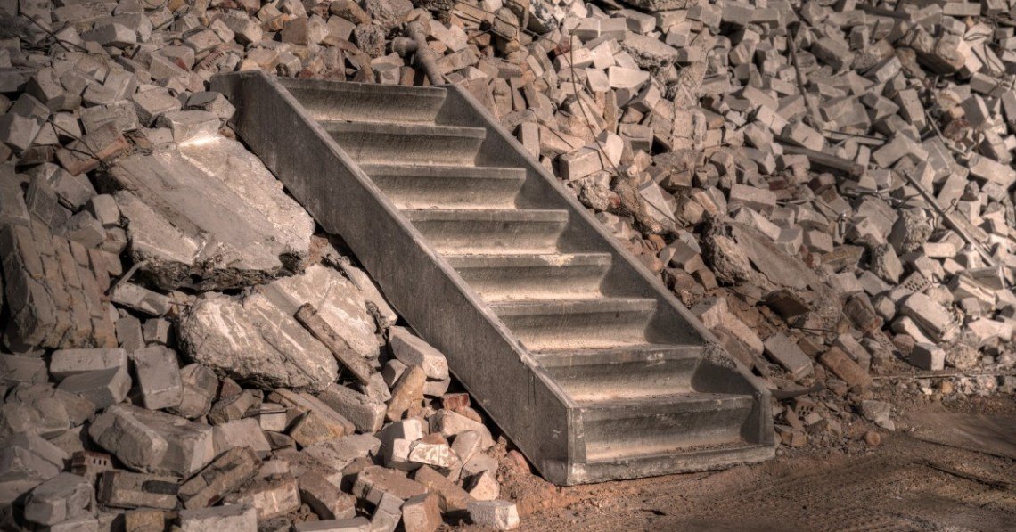 staircase-over-rubble