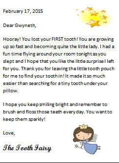 graphic relating to Free Printable Tooth Fairy Letters identify The Enamel Fairy and Cost-free Printables Dwelling with Female