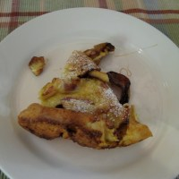 Retro Post: Adventure #4: Sweetie-Pie Pancake with Brown Sugar, Apples and Bacon
