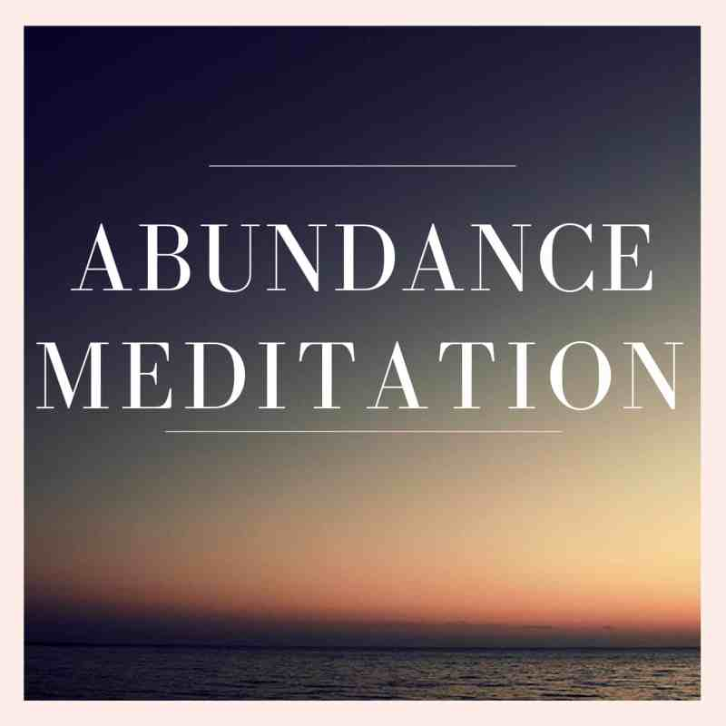 Abundance Meditation Audio Cover