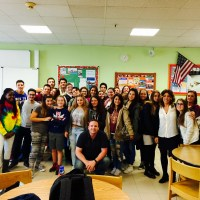 "The Liceo ""AM De Carlo"" visits the Wildcats of Naples American High School"