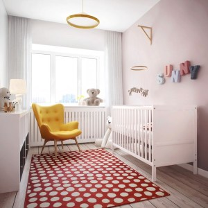 """The hidden master """"bed"""" room allowed for the creation of a separate nursery, with room to space for a growing child."""