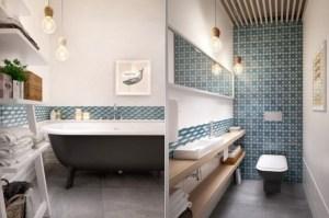 pattern wall bathroom