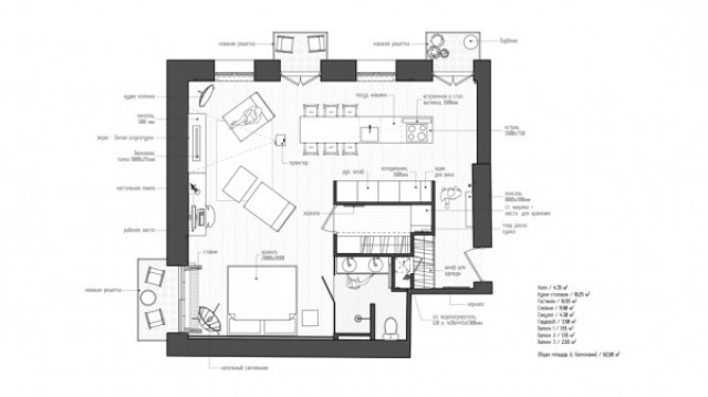 small studio apartment plan