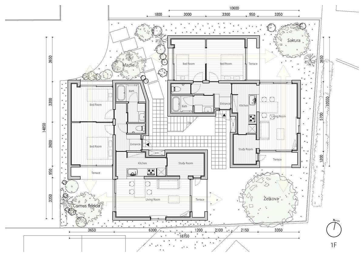 fukuoka apartment complex plan 2