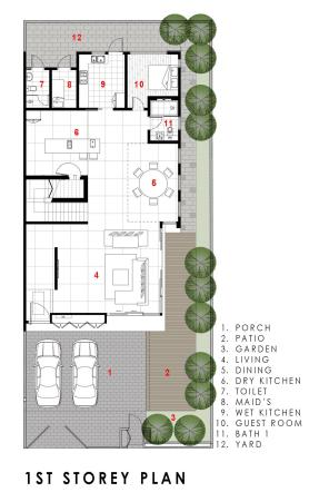 GreenWall_House plan 2