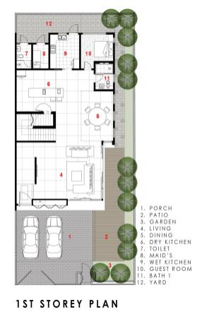 GreenWall_House plan 2