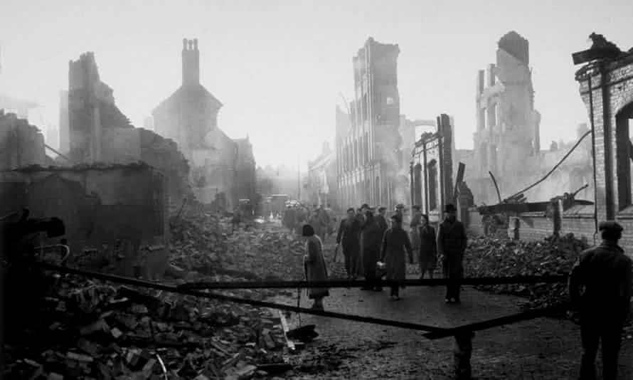 The morning after a German air raid on Coventry, which lost its entire city center to one night of bombing