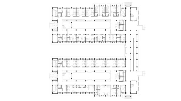 Niger General Hospital_43_CADI_Inpatient Building Ground Floorplan