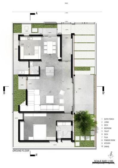 Badri Residence GROUND_FLOOR_PLAN_Architecture Paradigm