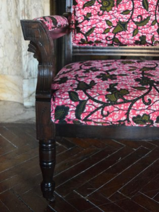 Chocolate Roses In A Pink Forest Settee 3
