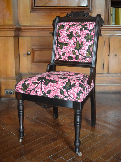 Chocolate Roses In A Pink Forest Side Chair
