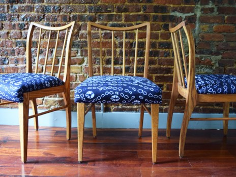 Nigerian Midnight With Stars Dining Chairs 1