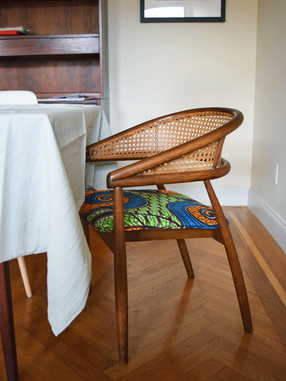 african mid centurey caned dining chairs 2