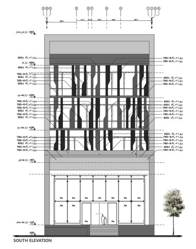 farmanieh commercial building_19_alidoost and partners_drawings_elevation
