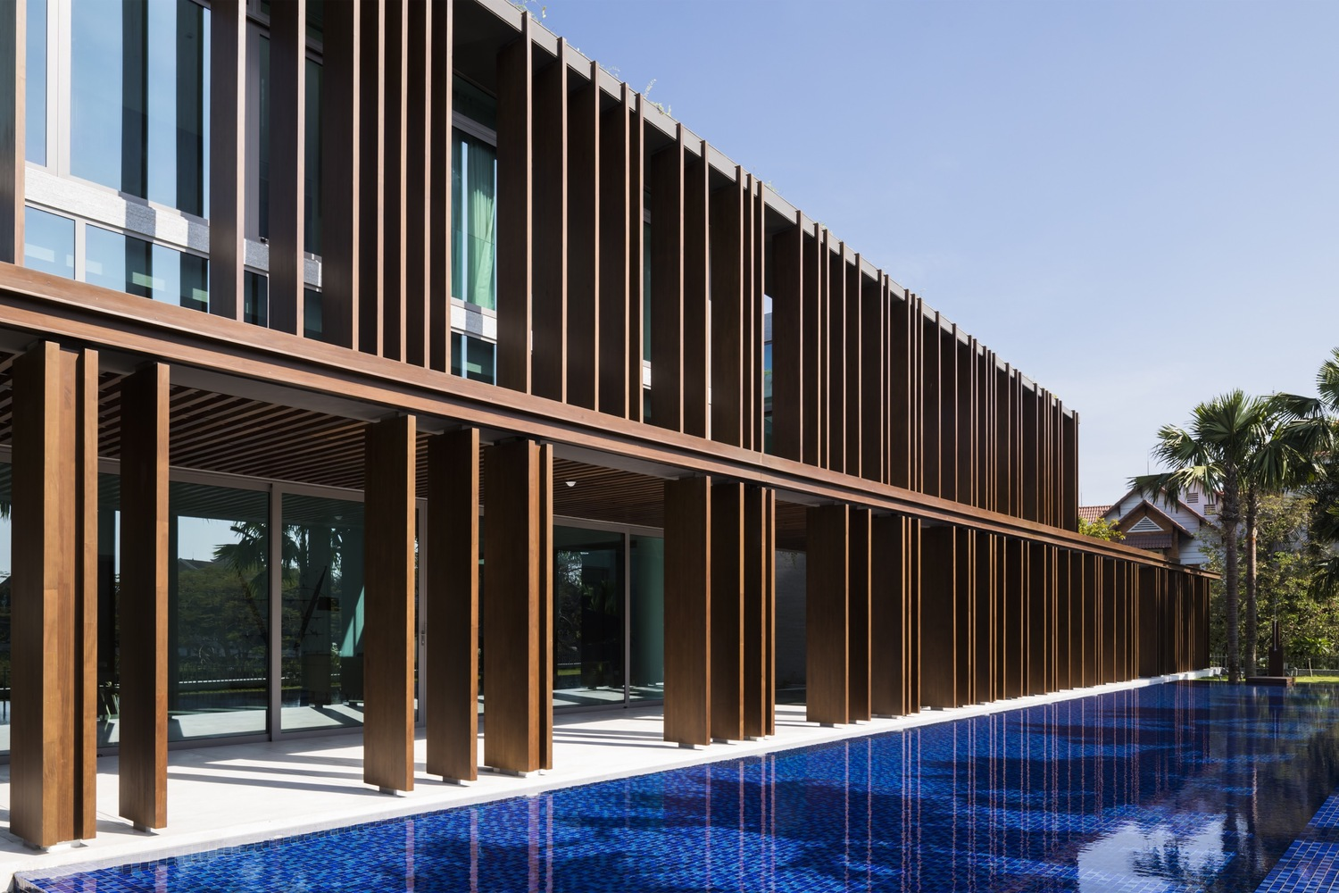 Chic Contemporary Spaces Rendered By Anh Nguyen: The Louvers House In Vietnam By MIA Design Studio Features