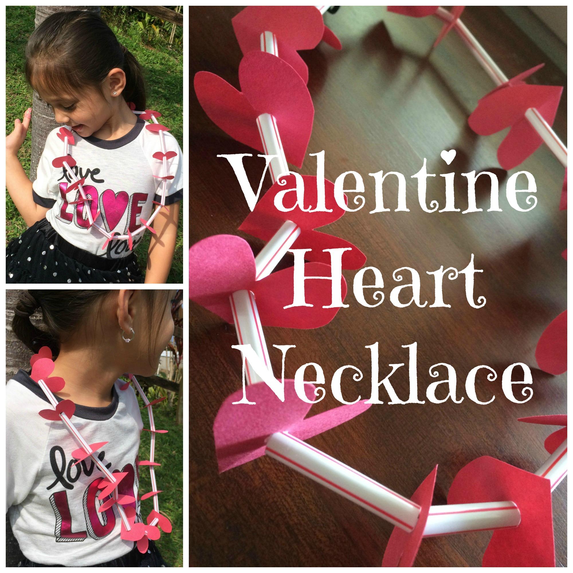 Diy Valentine S Day Heart Necklace