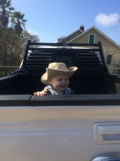 Hangin out in the truck!