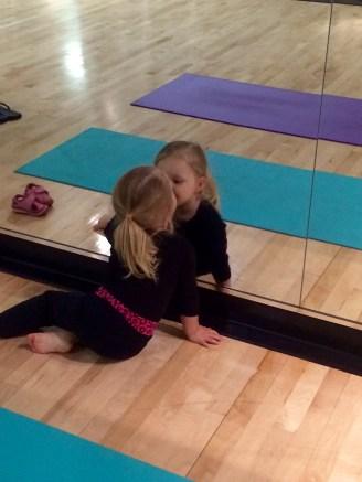 Landri's First Yoga Class (age 2.5) - 6