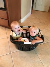 Brother snack time