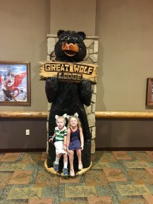 Posing with the bear