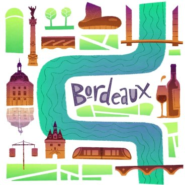 City of Bordeaux promotional illustration