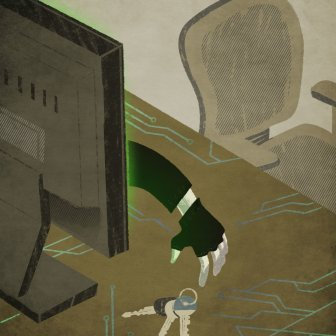 Illustration for INA global about digital war